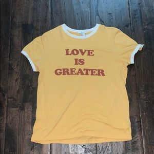 love is greater forever 21 tee